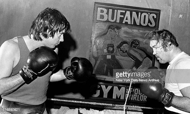 Chuck Wepner training for Muhammad Ali fight.