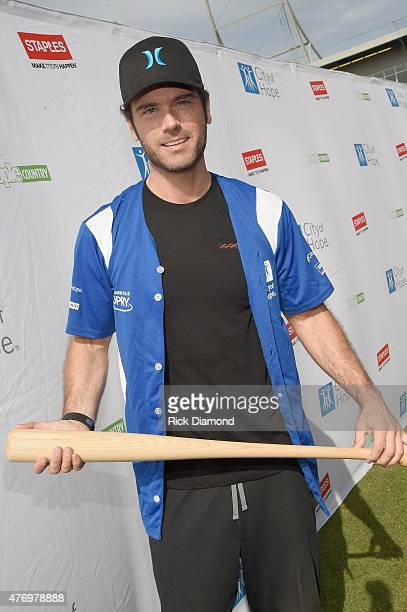 Chuck Wicks steps up to strike out cancer at City of Hope's 25th Annual Celebrity Softball Game at First Tennessee Park on June 13 2015 in Nashville...