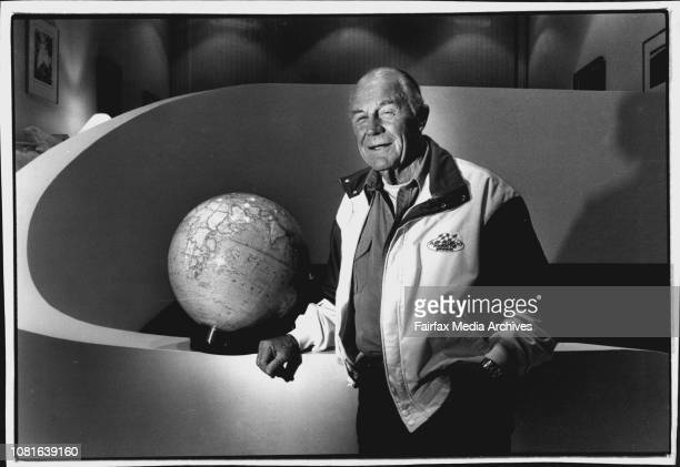 Chuck Yeager one time astronaut from America visiting AustraliaPic taken in adventure Dick Smiths home at Terry HillsChuck Yeager wants to break the...