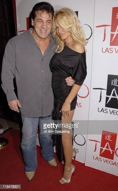 Chuck Zito and Pamela Anderson during Pamela Anderson Host New Year's Eve 2007 at Tao Night Club in Las Vegas at Tao in Las Vegas Nevada United States