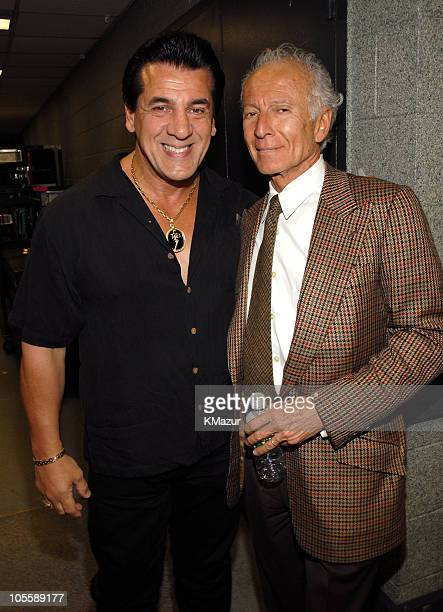 Chuck Zito and Ron Delsener during Billy Joel in Concert at Madison Square Garden April 24 2006 Backstage at Madison Square Garden in New York City...