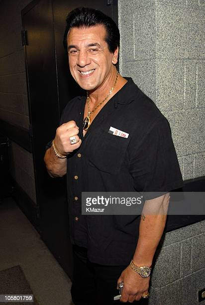 Chuck Zito during Billy Joel in Concert at Madison Square Garden April 24 2006 Backstage at Madison Square Garden in New York City New York United...