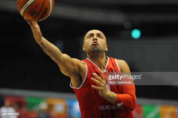 Chudhry Ghazain of Great Britain shoots during the Wheelchair Basketball World Challenge Cup final between Australia and Great Britain at the Tokyo...