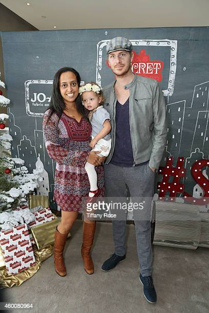 Chudney Ross Joshua Faulkner and their daughter Callaway attend the 4th Annual Santa's Secret Workshop Benefiting LA Family Housing at Andaz Hotel on...