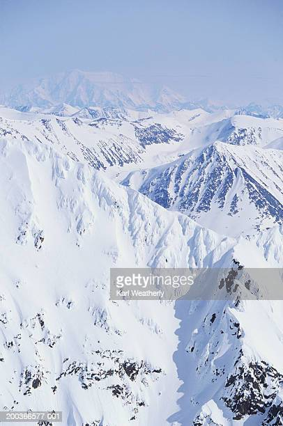 chugach mountains, alaska, usa, elevated view - chugach mountains stock pictures, royalty-free photos & images