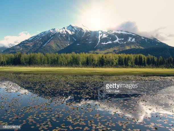 chugach mountains - girdwood, alaska - chugach mountains stock pictures, royalty-free photos & images