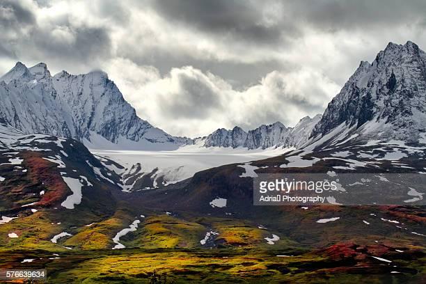 Chugach Mountains in Fall, Alaska