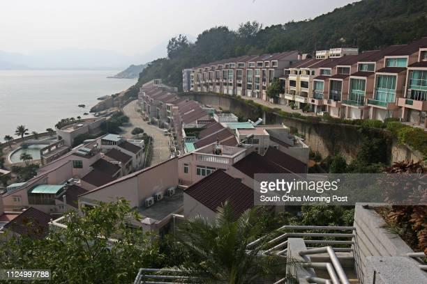 "Chuk Wan Hou Yuen near Hac Sa Beach at Macau. Street name in Macau reads ""Rua Um Dos Jardins De Cheoc Van"". 01 FEBRUARY 2007"