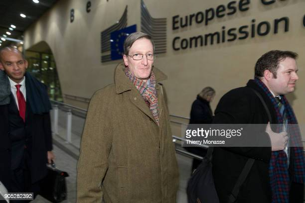 Chuka Umunna and Dominic Grieve leave the Berlaymont building headquarters of the European Commission after a meeting with Chief Brexit Negotiator...