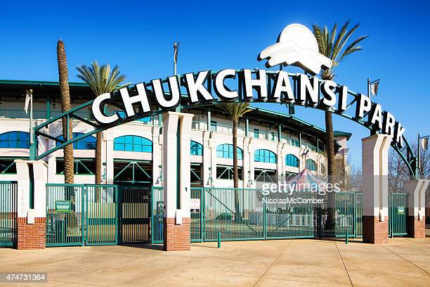 Chukchansi park entrance gate with stadium in Fresno California