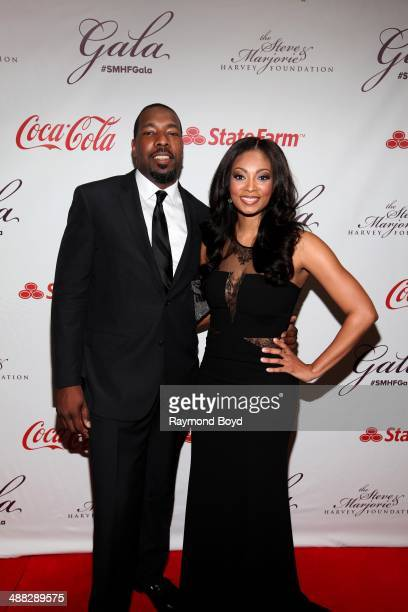 Chukwudi Okafor and Michele Relerford from WMAQNBC Chicago attends the 2014 Steve and Marjorie Harvey Foundation Gala presented by CocaCola at the...