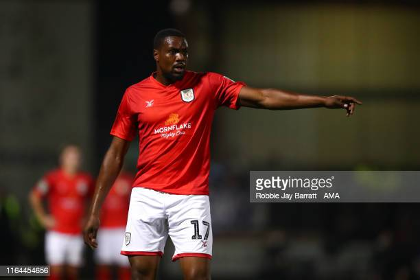 Chuma Anene of Crewe Alexandra during the Carabao Cup Second Round fixture between Crewe Alexandra and Aston Villa at Gresty Road on August 27 2019...
