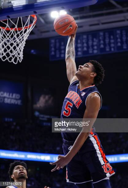 Chuma Okeke of the Auburn Tigers goes up for a dunk during the game against the Kentucky Wildcats at Rupp Arena on February 23 2019 in Lexington...