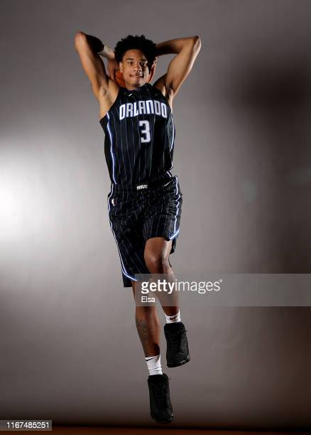 Chuma Okeke of the Orlando Magic poses for a portrait during the 2019 NBA Rookie Photo Shoot on August 11 2019 at the Ferguson Recreation Center in...
