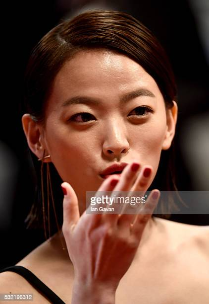 Chun Woo Hee attends The Strangers Premiere during the 69th annual Cannes Film Festival at the Palais des Festivals on May 18 2016 in Cannes France