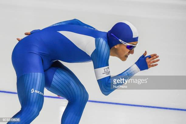 Chung Jaewoong of South Korea at 1000 meter speedskating at winter olympics Gangneung South Korea on February 23 2018