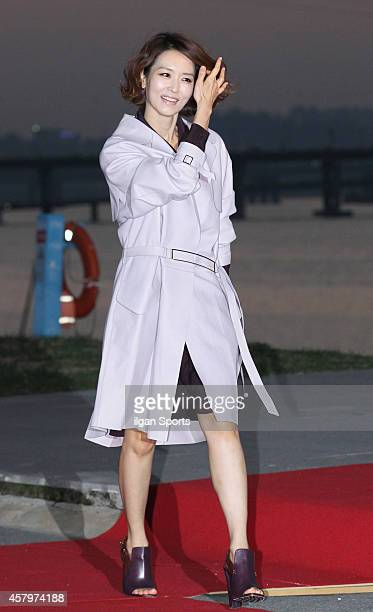 Chung JiYoung poses for photographs during the W Korea campaign Love Your W party at Fradia on October 23 2014 in Seoul South Korea