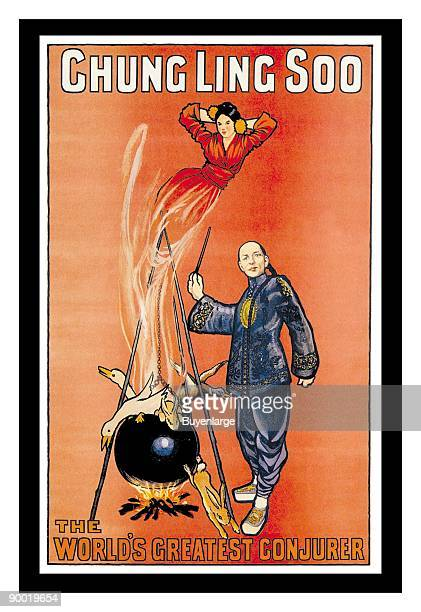 Chung Ling Soo was the stage name of American stage magician William Ellsworth Robinson He is famous for dying when his bullet catch trick went wrong