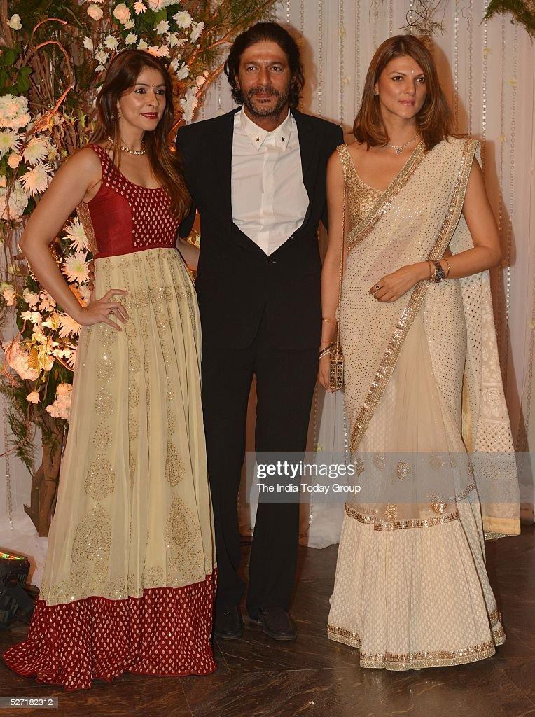 Chunky Pandey at Bipasha Basu and Karan Singh Grovers wedding reception ceremony at St Regis Hotel in Mumbai