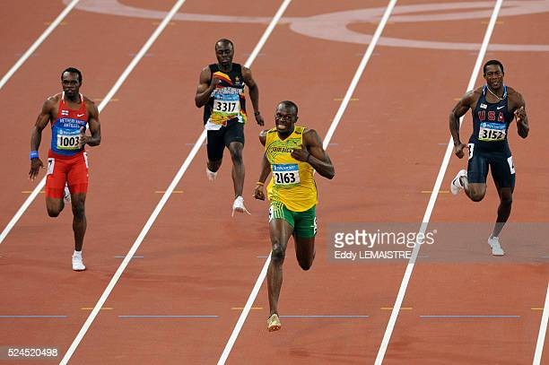 Churandy Martina Brian Dzingai Usain Bolt Shawn Crawford