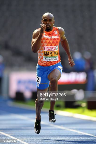 Churandy Martina of the Netherlands competes in the 100m Men Heat 1 qualification on the qualification day ahead of the 24th European Athletics...