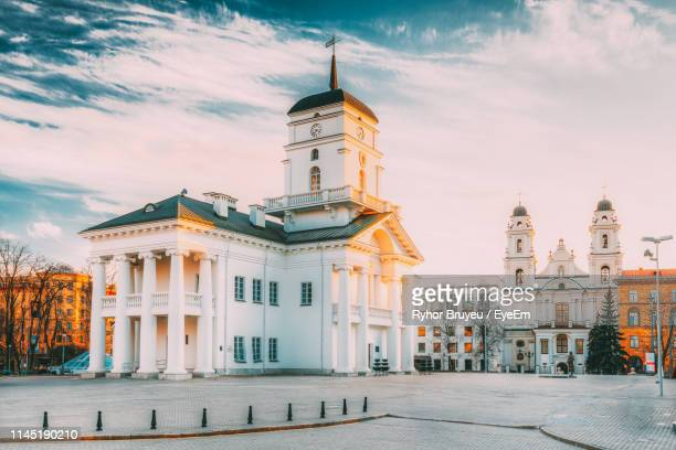church against sky - minsk stock pictures, royalty-free photos & images
