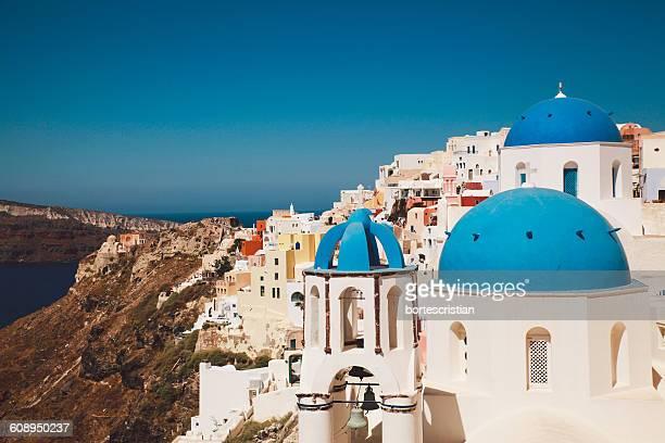 Church And Buildings In City At Santorini