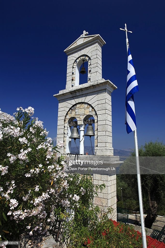 Church at Loustri village, Corfu Island : Stock Photo