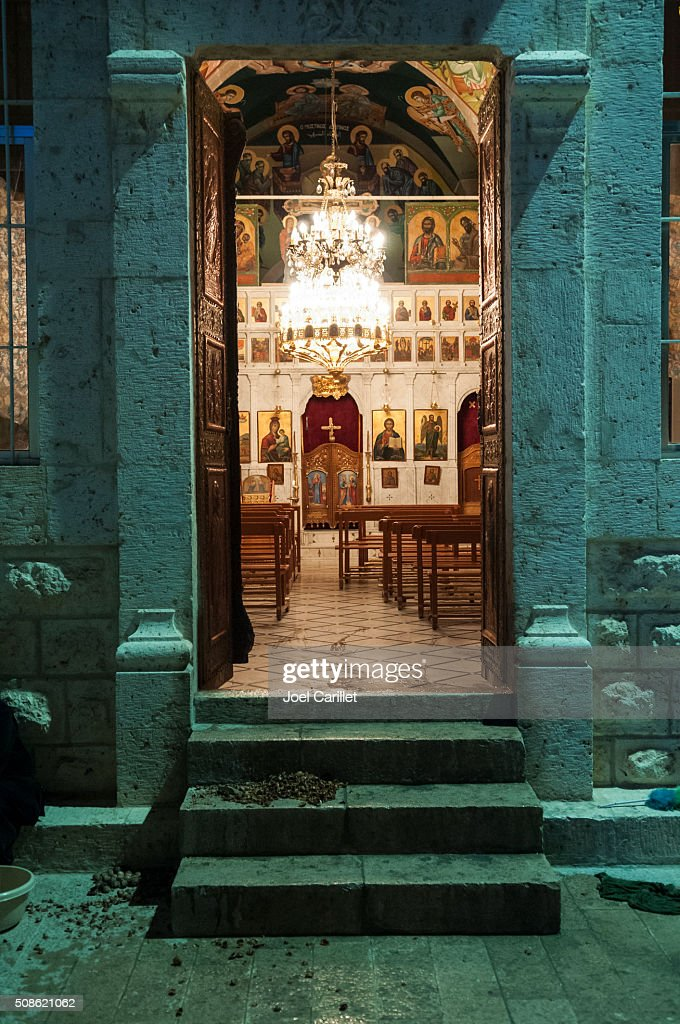 Church at Mar Takla in Maaloula, Syria : Stock Photo