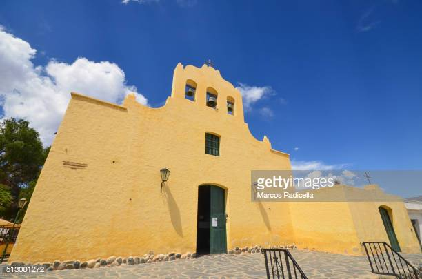 church at the city of cachi, salta province, argentina. - radicella stock photos and pictures