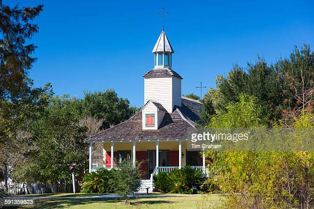 Church at Vermilionville living history museum of Acadian Creole and Native American culture Louisiana USA