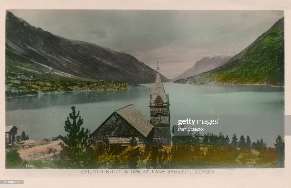 'Church Built in 1898 at Lake Bennett, Alaska', c1910.  Artist : News Photo
