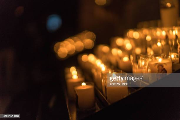 church candles paris - church stock pictures, royalty-free photos & images