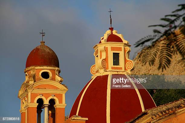 Church dome and belfry in Corfu town