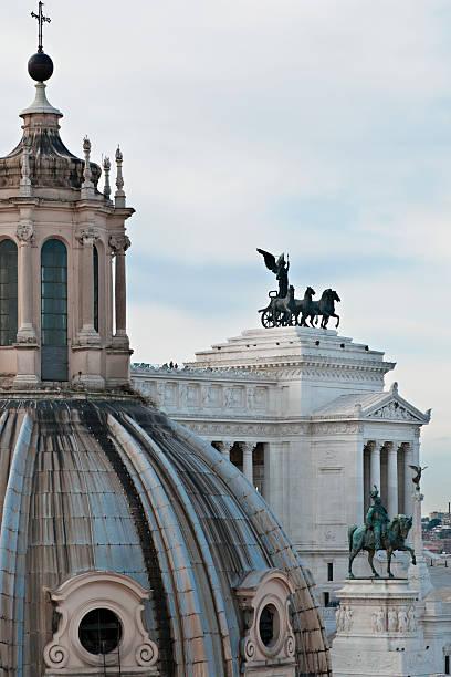 Church dome and Il Vittoriano, Rome