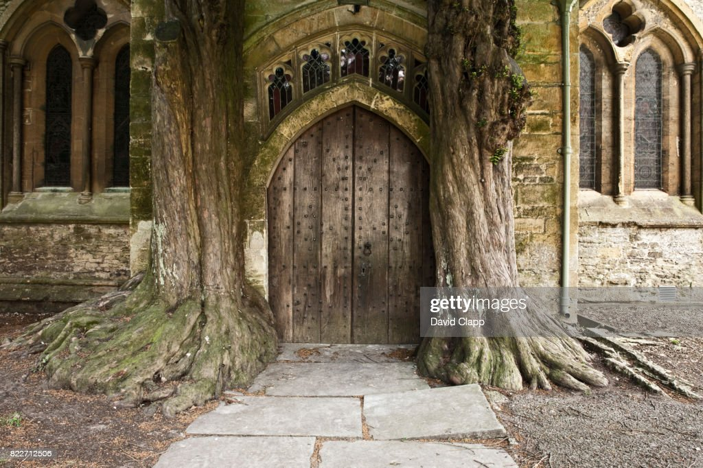 Church door, Stow On The Wold, Cotswolds, Gloucestershire : Stock Photo