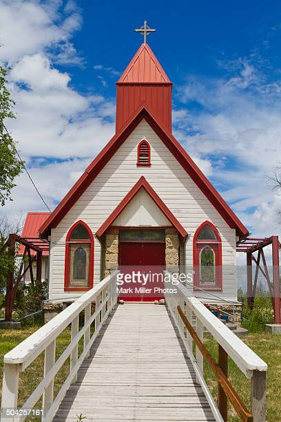 Church, Fort Hall Indian Reservation, Idaho, USA