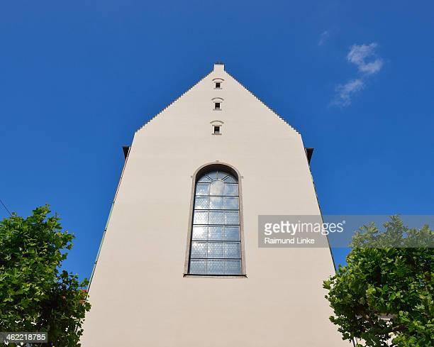 church gable - augsburg zwaben stockfoto's en -beelden
