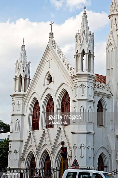 Church in a city, San Thome Basilica, Santhome, Mylapore, Chennai, Tamil Nadu, India