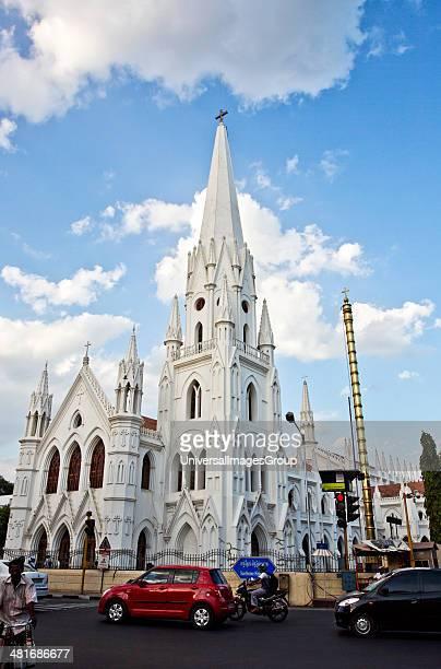 Church in a city San Thome Basilica Santhome Mylapore Chennai Tamil Nadu India