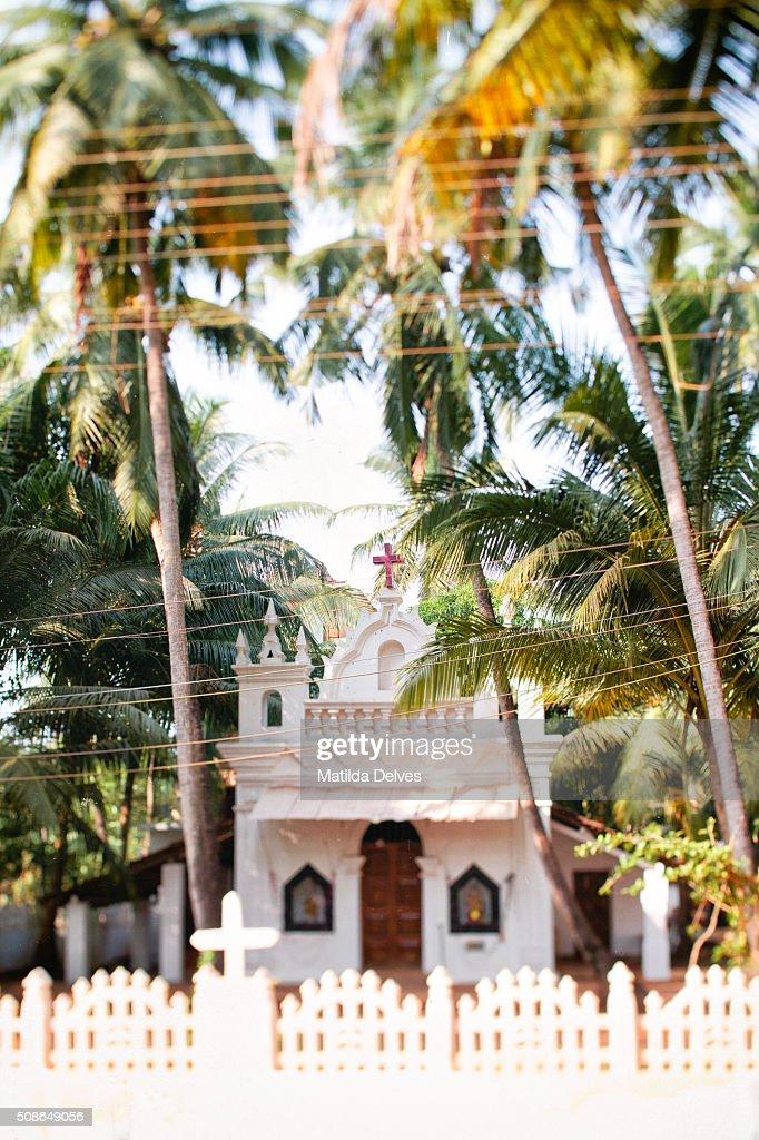 Church in Arambol, Goa, India : Stock Photo