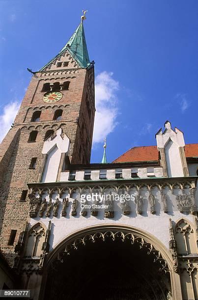 church in augsburg, germany - augsburg zwaben stockfoto's en -beelden