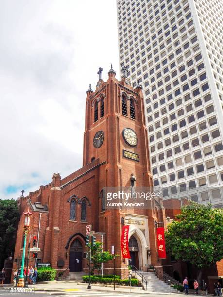 church in chinatown in san  francisco - protestantism stock pictures, royalty-free photos & images