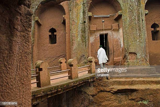 church in lalibela, ethiopia - lalibela stock photos and pictures