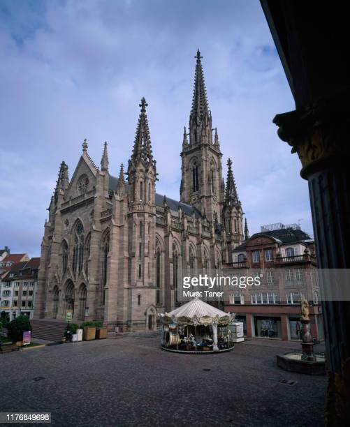 church in mulhouse - mulhouse stock pictures, royalty-free photos & images