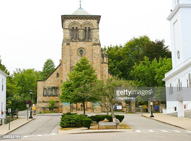 church in new england - plymouth massachusetts stock photos and pictures