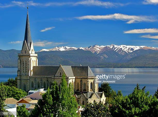 church in paradise - bariloche stock pictures, royalty-free photos & images