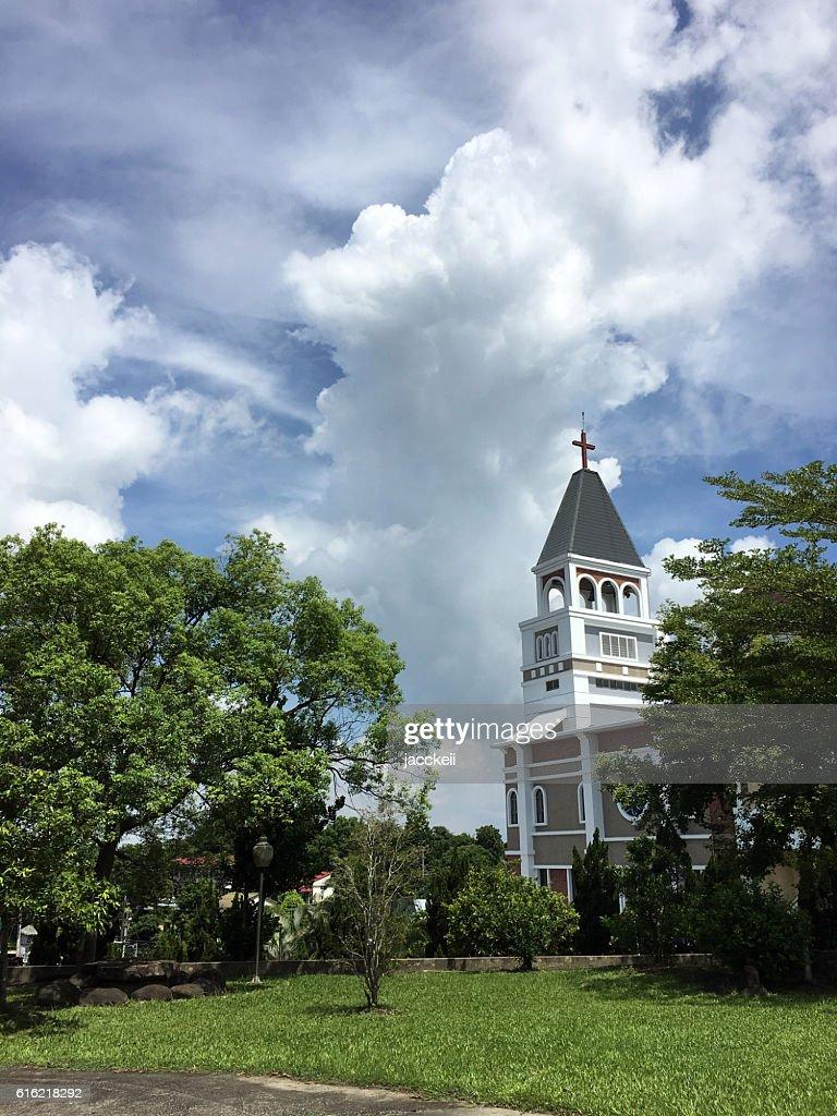 Church in Rural Tainan, Zuozhen, South Taiwan : Stockfoto