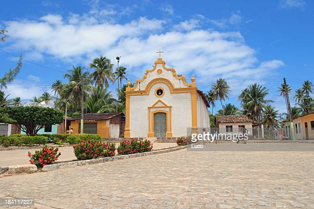 church in small village near the beach (brazil) - recife stock pictures, royalty-free photos & images