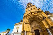 view main facade parish santa maría